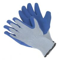 Latex Knitted Wrist Gloves - Large. SSP48